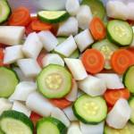 Gemüse überbacken mit Lachs