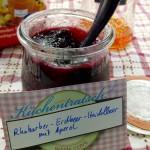 Rhabarber-Erdbeer-Heidelbeer-Marmelade mit Aperol