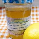 Zitronen-Ingwer-Gelee mit einem Schuss Weißwein