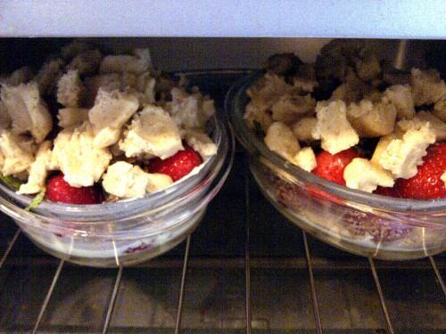 Erdbeercrumble im Ofen