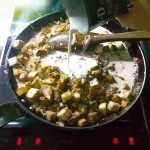 Schnelles Auberginen-Hack-Curry