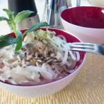 Mairüben-Salat mit Birne und Minzsauce